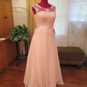 Tulle Organza NWT Prom Pageant Wedding Dress Pink